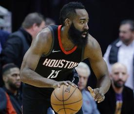 e7e6df694fa8 Rockets guard James Harden out at least two weeks with hamstring injury