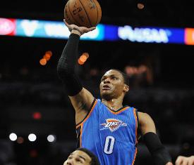 371e4d3fd Oklahoma City Thunder defeat San Antonio Spurs behind big game from Russell  Westbrook