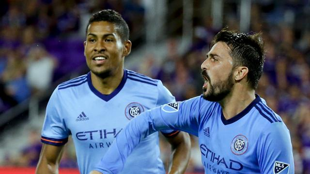 With Sunday's 2-2 tie against Colmbus, NYCFC finished as the second seed in the Eastern Conference. David Villa scored twice.