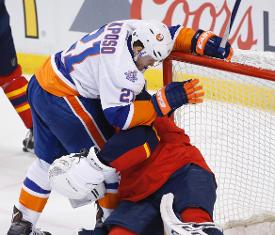 Roberto Luongo Florida Panthers Knot Series With New York Islanders