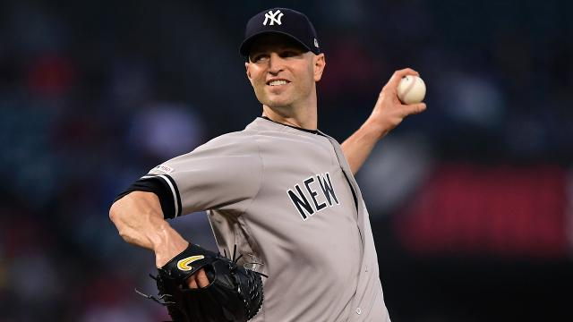 J.A. Happ allowed just two runs over seven innings in a no-decision against Angels. The left-hander discussed his start on the road.