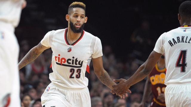 The Nets have landed sharpshooter Allen Crabbe in a trade with the Blazers. Portland acquires Andrew Nicholson.