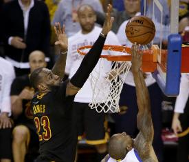 LeBron James  block in NBA Finals on Andre Iguodala is play of 2016 98f11ddb99d5