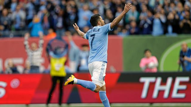 Playing without Frank Lampard, New York City FC easily dispatched the Chicago Fire on Friday night, 4-1. David Villa had two goals.