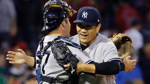 Tanaka pitches to contact to stop Red Sox